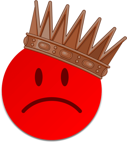 preis-leistungs-king-smiley-red-crown