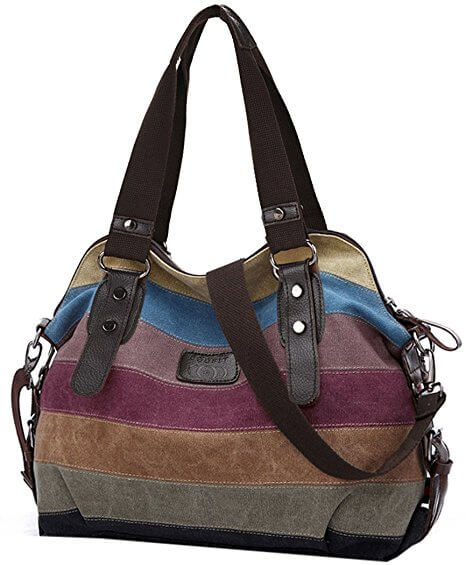 coofit-multi-color-striped-canvas-damen-handtasche
