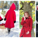 Roter Mantel Damen Outfits