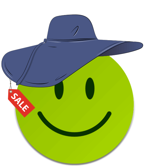 preis-leistungs-king-fashion-smiley-green-hat-sale-tag